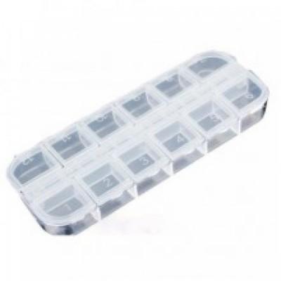 Πλαστική Θήκη 12 θέσεων για διακοσμητικά νυχιών
