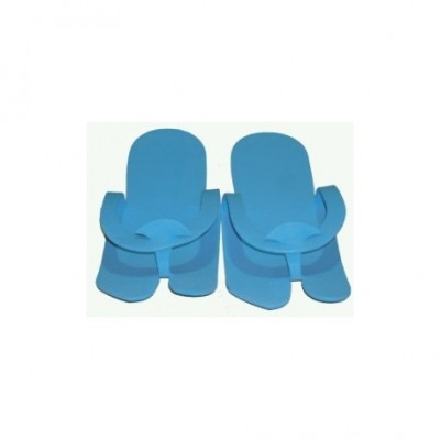 Παντόφλες πεντικιούρ μιας χρήσης 24τμχ Μπλε